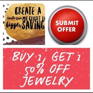 Other - All Jewelry Buy one get the second 50% off sale